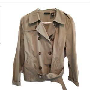 Khaki Belted Field Jacket sz large Petite